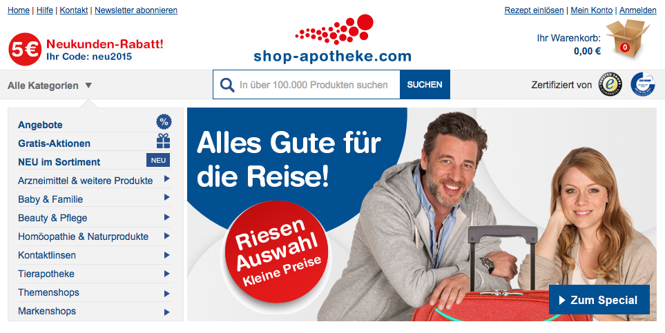 Onlinemarketing Shop-Apotheke